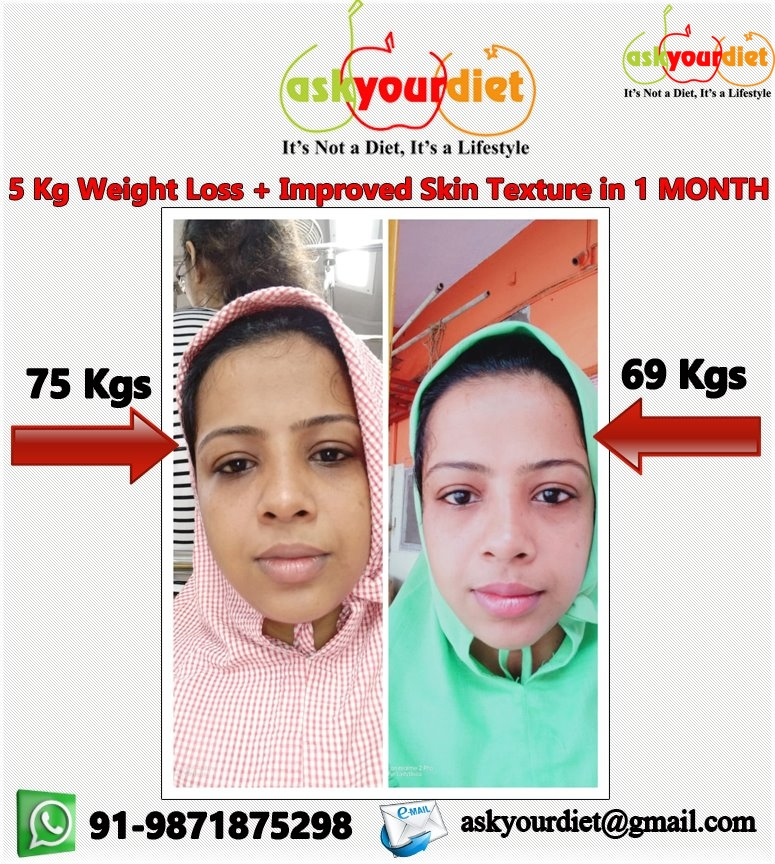 solania lost 5 kg weight in one month