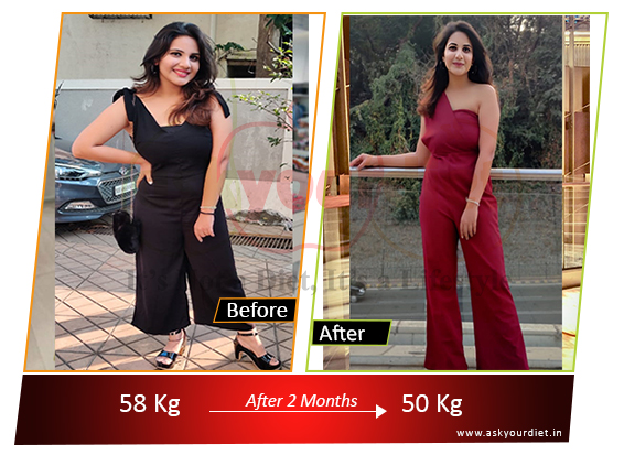 This girl lost a massive 8 kilos in only 2 Months plus a massive Belly fat loss and a younger looking glowing skin