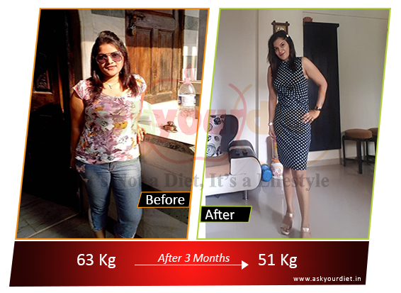 Weight loss story: From 63 to 51 kilos, this 33 year old working girl lost 11 kilos in just 3 months! Here's how she did it